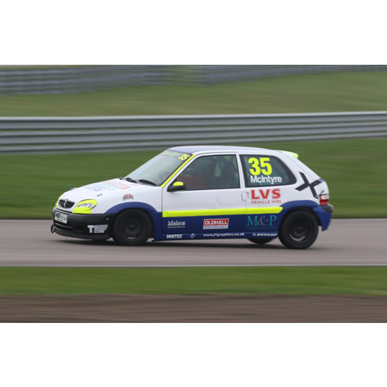 Scott McIntyre in the Junior Saloon Car Championship